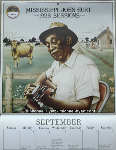 First sample from 1986 Classic Blues calendar