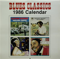 Cover of the 1986 Blues Classics calendar