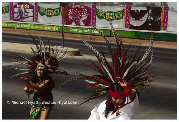 Aztec Dancers - Cesar Chavez Labor Bridge (Tucson, 2008)