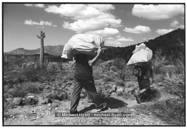 Humane Borders Volunteers Remove Trash From the Desert (2003)
